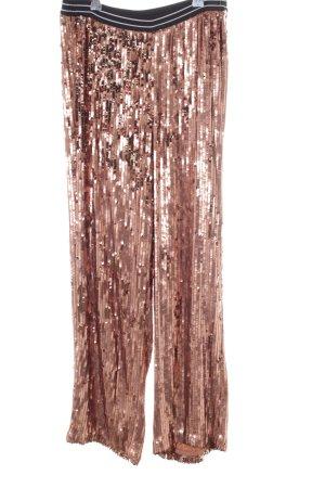 Free People Stoffhose roségoldfarben-schwarz extravaganter Stil