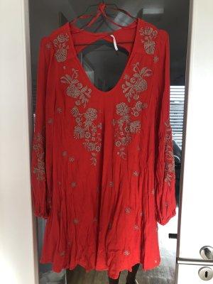 Free People  Sweet Tennessee Mini Dress Kleid Rot S 36