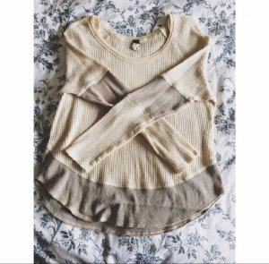Free People Pull oversize marron clair-beige clair