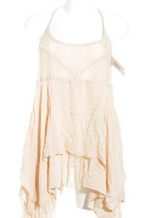 Free People Trägerkleid beige Romantik-Look