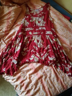 Free People Flounce Dress red