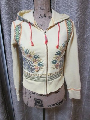 Free People Yoga Hippie Tribal Aztek Dashiki Crop Hoodie Yellow