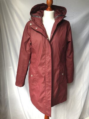 Freequent Heavy Raincoat dark red-carmine