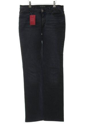 Free Soul High Waist Jeans stahlblau-weiß Nadelstreifen Casual-Look