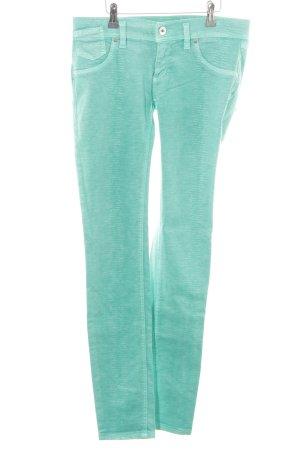 Free Soul Straight-Leg Jeans mint-hellgrün Animalmuster Biker-Look