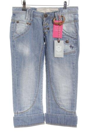 Freeman t. porter 3/4 Jeans himmelblau-kornblumenblau Washed-Optik