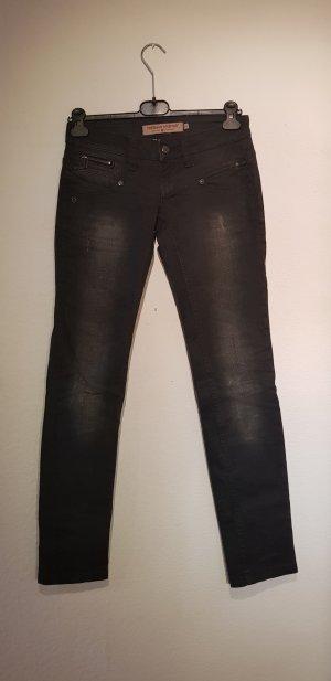 Freeman t. porter Slim jeans zwart-antraciet