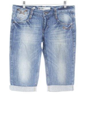 Freeman t. porter Capribroek staalblauw Jeans-look