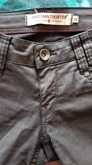 Freeman t. porter Stretch jeans antraciet-zwart
