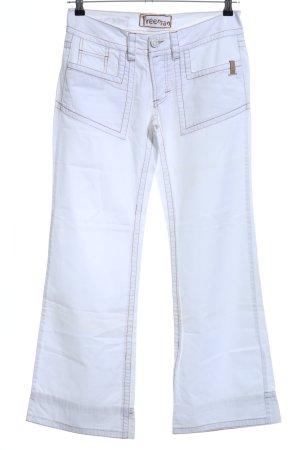 Freeman t. porter Pantalon cinq poches blanc style décontracté