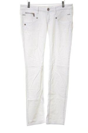 Freeman t. porter Pantalone cinque tasche bianco stile casual