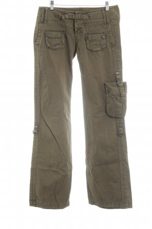Freeman t. porter Pantalon taille basse kaki style militaire