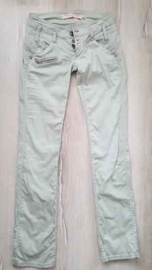 Freeman t. porter Jeans a gamba dritta verde-grigio Cotone