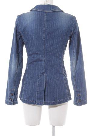 Freeman t. porter Denim Blazer steel blue-azure pinstripe street-fashion look