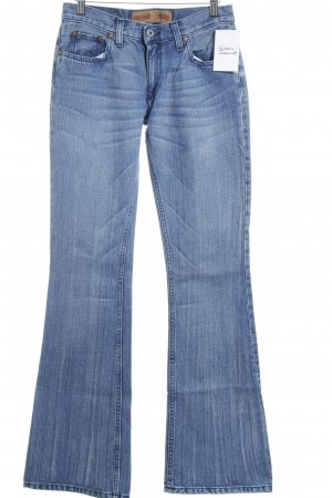 Freeman t. porter Jeansschlaghose blau meliert schlichter Stil