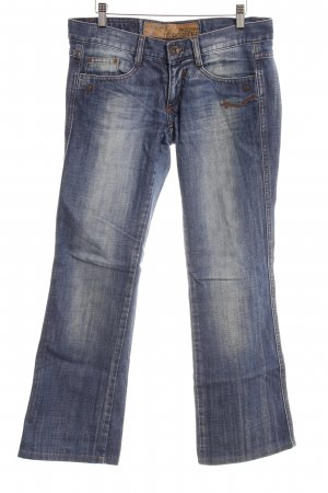 Freeman t. porter Jeansschlaghose stahlblau Jeans-Optik
