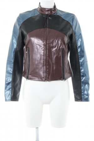 Freeman t. porter Kunstlederjacke Colourblocking Metallic-Optik