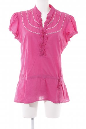 Freeman t. porter Kurzarm-Bluse pink Elegant