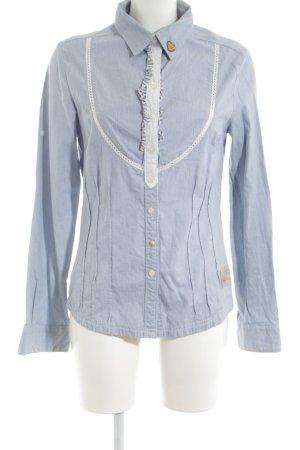 Freeman t. porter Langarmhemd blau-weiß Elegant
