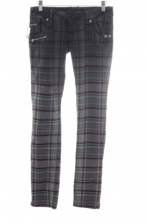 Freeman t. porter Drainpipe Trousers check pattern punk style