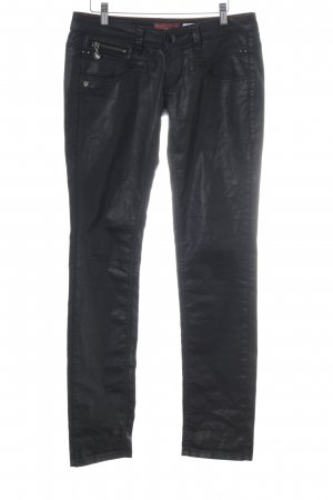 Freeman t. porter Drainpipe Trousers black casual look