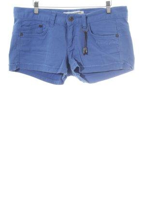 Freeman t. porter Shorts kornblumenblau Schriftzug gestickt Casual-Look