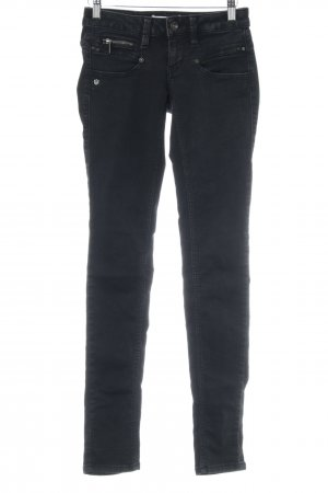 Freeman t. porter Skinny Jeans anthrazit-grau Webmuster Casual-Look