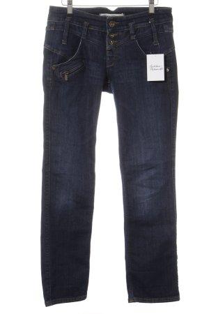 Freeman t. porter Jeans slim bleu foncé style décontracté
