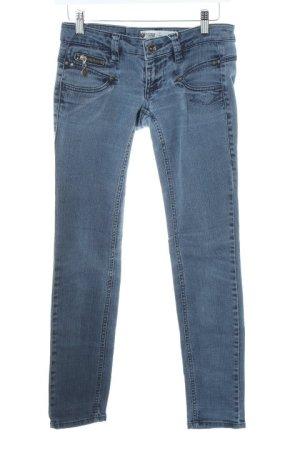 Freeman t. porter Slim Jeans stahlblau Washed-Optik