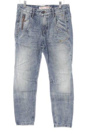 Freeman t. porter Slim Jeans stahlblau-wollweiß Casual-Look