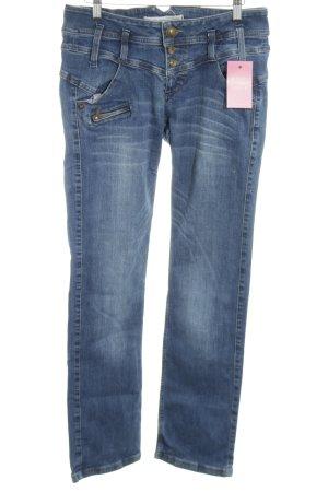 Freeman t. porter Straight-Leg Jeans blau Allover-Druck Jeans-Optik