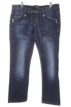 Freeman t. porter Straight-Leg Jeans blau Used-Optik