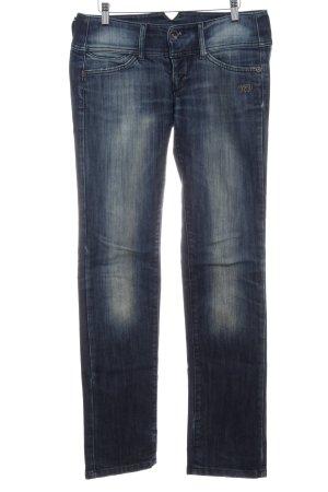 Freeman t. porter Straight-Leg Jeans dunkelblau Destroy-Optik