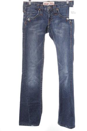 Freeman t. porter Straight-Leg Jeans dunkelblau-wollweiß meliert Casual-Look