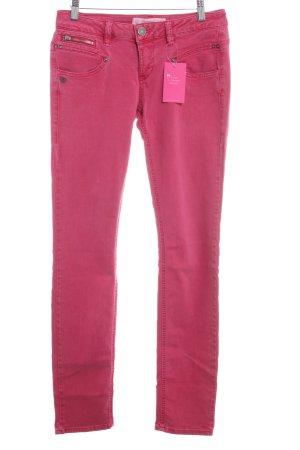 Freeman t. porter Straight-Leg Jeans karminrot schlichter Stil
