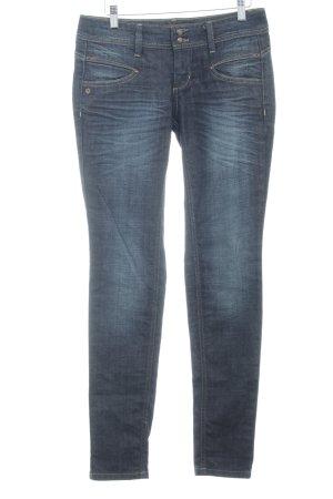 Freeman t. porter Straight-Leg Jeans taupe-blassblau Washed-Optik