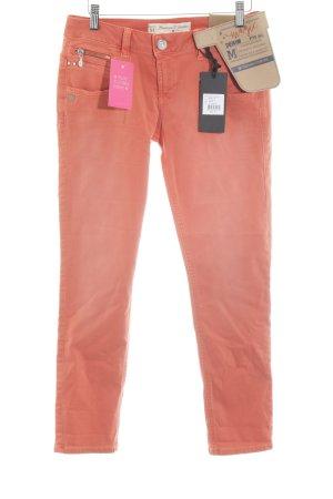 Freeman t. porter Stretch Jeans hellorange-silberfarben Casual-Look