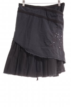 Freeman t. porter Wraparound Skirt black-dark grey extravagant style