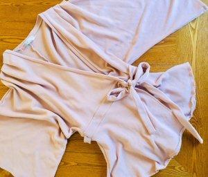 FreePeople: Sweattunika-Wickeljacke in rosa