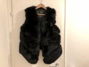 Freeplume Kunstfellweste Fake Fur Pelz schwarz neu Fellweste