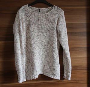 Freequent Strickpullover Gr. S 36 nude rosa weiß NP 60€