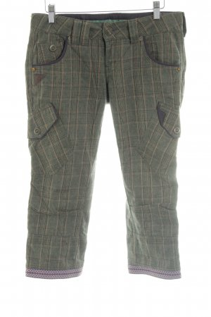Freesoul 3/4 Length Trousers khaki-brown check pattern casual look