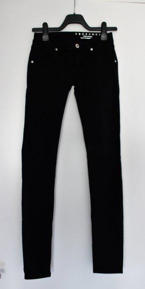 Freesoul Pantalón de tubo negro Algodón