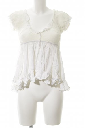 Freesoul Kurzarm-Bluse creme Romantik-Look