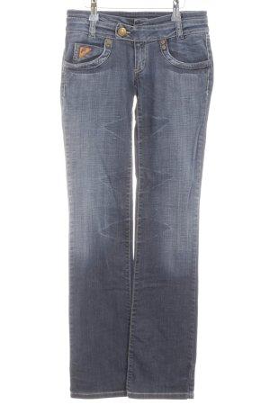 Freesoul Boot Cut Jeans blau meliert schlichter Stil