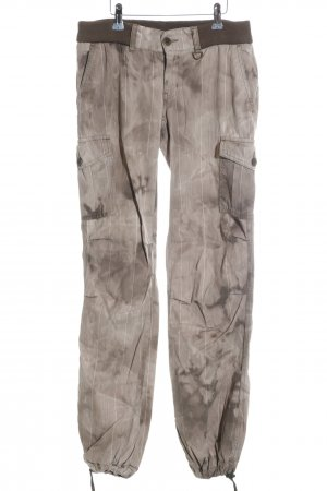 Freesoul Boyfriend Trousers nude-brown graphic pattern athletic style