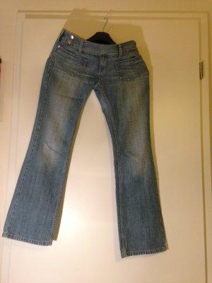Freesoul Jeans Damen, Hüfthose, silberne Gürtelschlaufe, Nichtraucherhaushalt