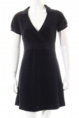 Freesoul Kleid schwarz grafisches Muster Samt-Optik