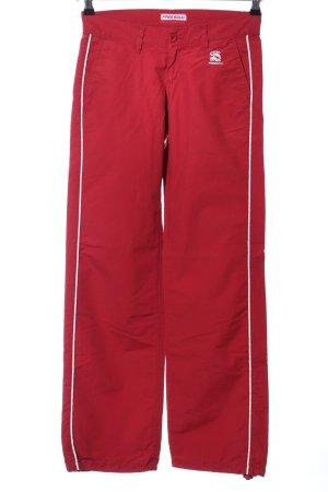 Freesoul Pantalón de campana rojo look casual