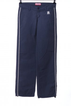 Freesoul Pantalón de campana azul-blanco look casual